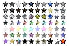 Ilustración 03 de cinco estrellas Imagen de archivo libre de regalías