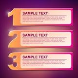 Ilustración 1-2-3 del marco de texto del vector Imagen de archivo