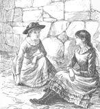 Ilustración 1882 de la vendimia foto de archivo libre de regalías