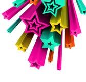 ilustración 3d de estrellas coloreadas Imágenes de archivo libres de regalías