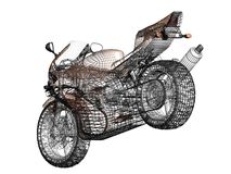 ilustración 3D de una motocicleta del concepto Imagen de archivo libre de regalías