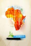 Ilustración abstracta África continente stock de ilustración