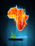 Ilustración abstracta África continente ilustración del vector