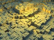 Ilustración abstracta 3d de una ciudad futurista Imagenes de archivo