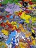 Ilustración abstracta coloreada de la pintura de la textura Imágenes de archivo libres de regalías