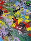 Ilustración abstracta coloreada de la pintura de la textura Fotografía de archivo libre de regalías