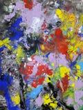 Ilustración abstracta coloreada de la pintura de la textura Foto de archivo