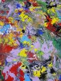Ilustración abstracta coloreada de la pintura de la textura Fotos de archivo