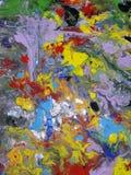 Ilustración abstracta coloreada de la pintura de la textura Imagen de archivo