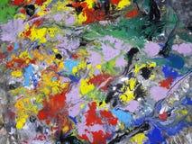 Ilustración abstracta coloreada de la pintura de la textura Fotografía de archivo