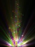 Ilustración abstracta de efectos luminosos Imagen de archivo libre de regalías