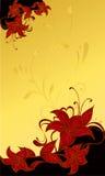 Ilustración abstracta de la boda de la flor   Fotos de archivo