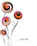 Ilustración abstracta de la flor libre illustration