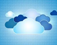 Ilustración abstracta de la nube de los datos stock de ilustración