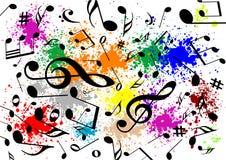 Ilustración abstracta de un fondo musical libre illustration