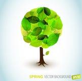 Ilustración abstracta del árbol del resorte del vector Foto de archivo