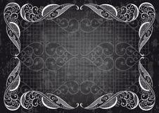 Ilustración abstracta del ornamental frame Fotografía de archivo libre de regalías