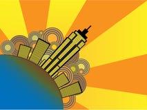 Ilustración abstracta del vector de la ciudad stock de ilustración
