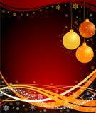 Ilustración abstracta del vector de la Navidad Fotos de archivo