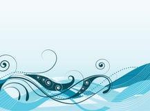 Ilustración abstracta del vector de ondas coloreadas stock de ilustración