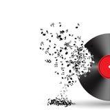 Ilustración abstracta del vector del fondo de la música para stock de ilustración