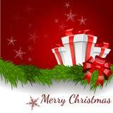 Ilustración abstracta del vector del fondo de la Navidad Imágenes de archivo libres de regalías