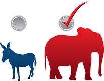 Ilustración americana del vector de la elección