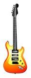 Ilustración anaranjada de la guitarra eléctrica Fotos de archivo