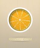 Ilustración anaranjada de la postal de la fruta Imagenes de archivo