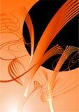Ilustración anaranjada y negra Fotografía de archivo