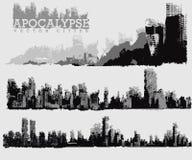 Ilustración apocalíptica de la ciudad Fotos de archivo libres de regalías