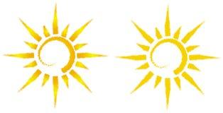 Ilustración artística del sol Fotografía de archivo