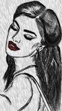 Ilustración atractiva de la mujer Fotos de archivo libres de regalías