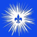Ilustración azul cuadrada Fotografía de archivo libre de regalías