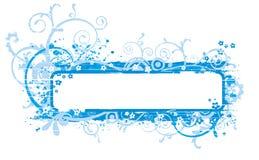 Ilustración azul de la bandera stock de ilustración