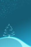 Ilustración azul de la Navidad Imágenes de archivo libres de regalías