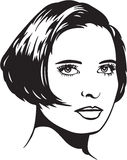 Ilustración bonita de la mujer Imagen de archivo libre de regalías