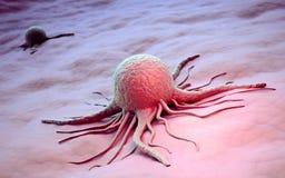 Ilustración científica de la célula cancerosa stock de ilustración