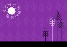 Ilustración cobarde púrpura. Arte del vector Foto de archivo