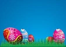 Ilustración colorida de los huevos de Pascua Foto de archivo