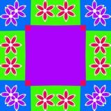 Ilustración colorida del fondo del marco de la flor Foto de archivo