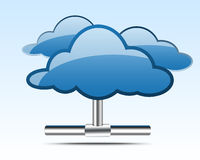 Ilustración computacional de la nube Fotografía de archivo libre de regalías