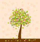 Ilustración con el árbol, vector Foto de archivo libre de regalías
