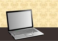 Ilustración con estilo de una computadora portátil stock de ilustración