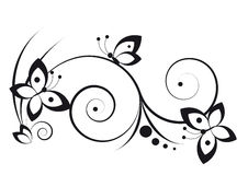 Ilustración con las mariposas