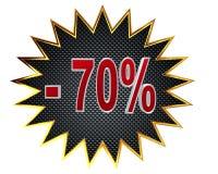 ilustración 3D Descuento muestra del 70 por ciento Imagen de archivo