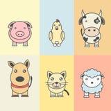 Ilustración de animales stock de ilustración