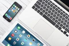 Ilustración de Apple Inc dispositivos Imagen de archivo