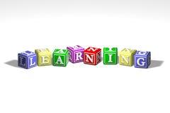 Ilustración de aprender bloques Imagen de archivo libre de regalías