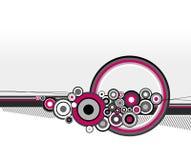 Ilustración de círculos rosados. Vector Imagen de archivo libre de regalías